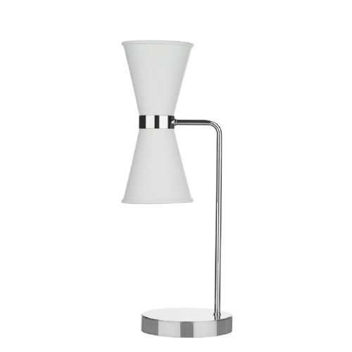 Hyde Table Lamp Chrome + Arctic White Metal Shade HYD4202C (7-10 day Delivery)